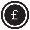 business, cash, coin, currency, money, pound icon