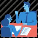 interview, business, meeting, job, office