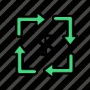 cash, flow, money, business