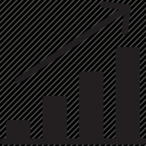 analytics, bar chart, business, profits, seo and web, statistics, stats icon