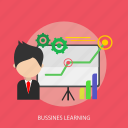 bussines, chart, face, learning, man, presentation icon