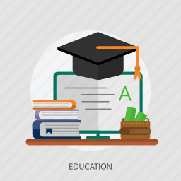 education, knowledge, money, study, wallet icon