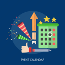 calendar, deadline, event, party, special day, star, target icon