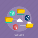 cloud, data, document, file sharing, folder, link icon