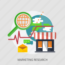 global, market, marketing, marketing research, research, search, store icon