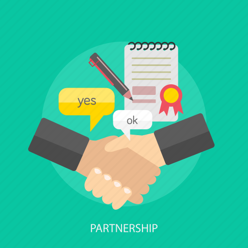 business, partnership, pencil, profil, teamwork icon