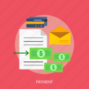 credit card, email, finance, money, payment icon