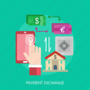 business, exchange, home, market, money, online, payment icon