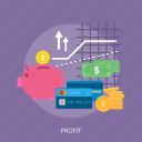 chart, finance, money, profit, wallet icon