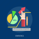 chart, cursor, hand, pen, ruler, statistics, storage icon