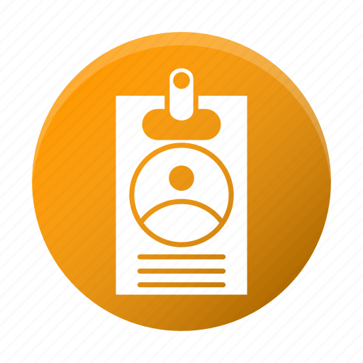 account, badge, client, favor, id icon