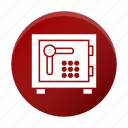 bank locker, bank safe, locker, money box icon