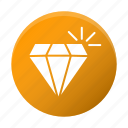 diamond, gemstone, investment, jewelry icon