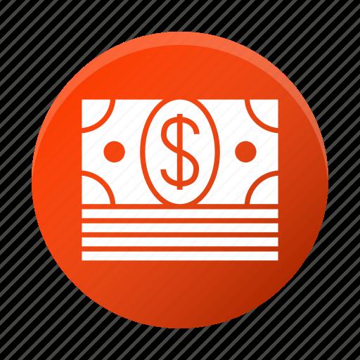 bundle of dollar, bundle of money, dollars, money icon
