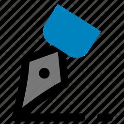 finance, signature icon