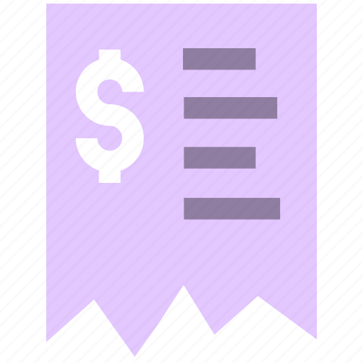 finance, invoice, payment, receipet icon