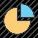 analytic, chart, pie, statistics icon icon