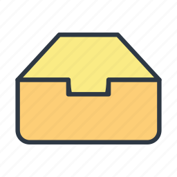business, drawer, work icon icon