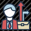 business, career, growth, job, path icon
