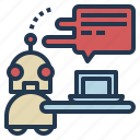 business, chatbot, customer, support icon