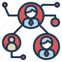 business, connection, link, people, team icon