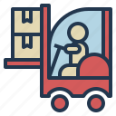 business, cargo, logistics, transportation icon