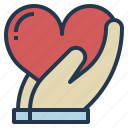 charity, love, mind, service icon