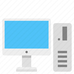business, computer, pc, personal computer, work computer icon