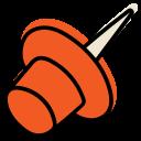 office, pin, pushpin, sharp icon