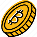 bitcoin, coin, currency, money icon