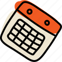 calendar, event, schedule, timetable icon