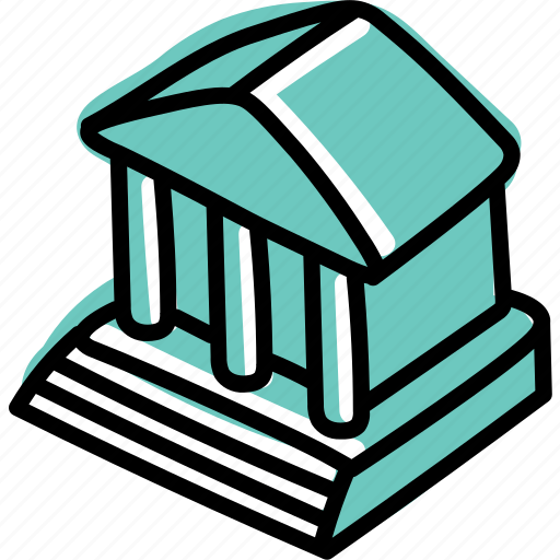 bank, building, business, government, office icon