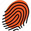 biometrics, fingerprint, privacy, security icon
