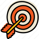 arrow, goal, purpose, target icon