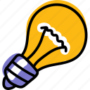 creative, idea, light, lightbulb icon