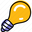 bulb, idea, innovation, light, lightbulb icon