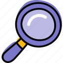 find, search, study, zoom icon