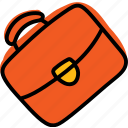 briefcase, business, case, suitcase icon