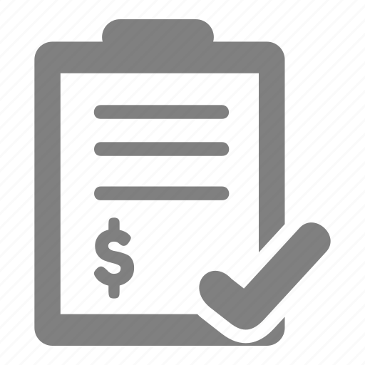 business, checklist, finance, investment, payment icon