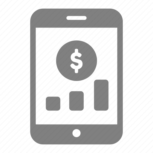 business, graph, investment, marketing, smartphone icon