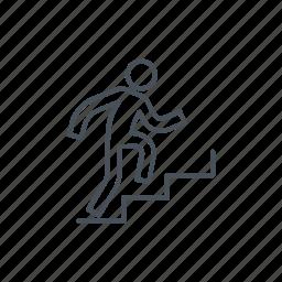 climb, climbing, man, men, run, stair, stairs icon