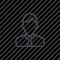 businessman, clerk, client, office worker, worker icon