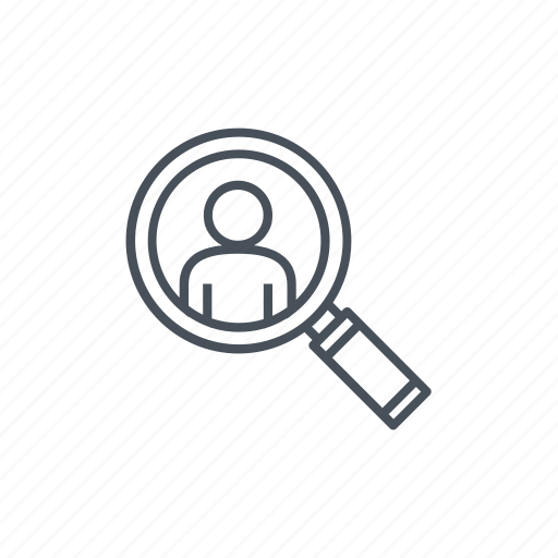 look, looking, magnifying glass, man, searching, users icon