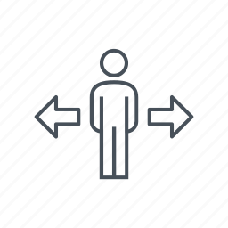 business, businessman, choosing, male, man, men, options icon