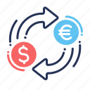 conversion, currency, currency exchange, exchange icon
