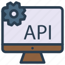 api, device, monitor, screen, setting icon