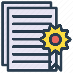 achievement, degree, diploma, document, files icon