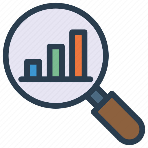 analysis, chart, graph, search, statistic icon