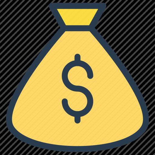 bag, cash, dollar, money, saving icon
