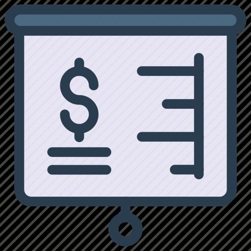 board, chart, graph, presentation, statistic icon